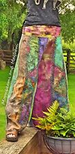 FAB NEW TIE DYE HIPPIE FLARES SIZE UK 10 / 12 / 14 FESTIVAL TROUSERS VINTAGE
