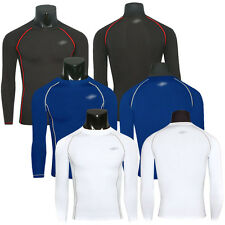 Men's Long Sleeve Compression Skin Top Tight Fitness GYM Base Layer Shirts M-XXL