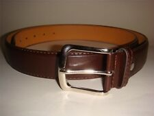 NEW BIG TALL MEN BROWN LEATHER BELT 1.5 INCH WIDE SIZE 54 56 58 60