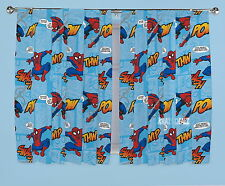 """Official Ultimate Spiderman Thwip Curtains 66 x 54"""" or 66 x 72"""" New Gift"""