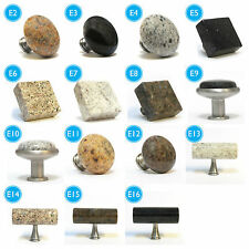 PUSHKA KNOBS Granite Kitchen Cupboard Cabinet Drawer Wardrobe Door Pull Knob
