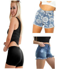 NEW IN LADIES WOMENS GYM SUMMER POCKET HOTPANT JERSEY SHORTS 8-16