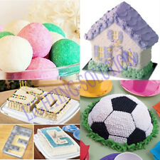 CAKE HOUSE CHOCOLATE BAKING TINS PAN DECORATING MOULD BALL NUMBER LETTER BOOK #F