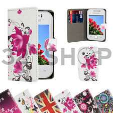 FOR SAMSUNG GALAXY Y S5360 NEW PRINTED DSEIGN PU LEATHER FLIP CASE COVER
