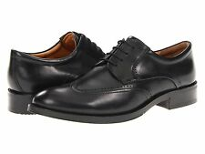 NEW - Men's Ecco Canberra Wing Tip Leather Lace Up Shoes - Black - 62150401001