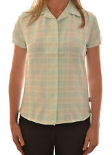 REGATTA LADIES MORGOT CASUAL CHECKED SHIRT MOONSTONE BLUE WS146 C6