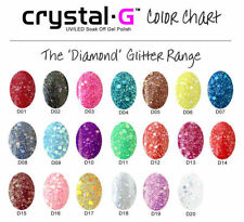 Crystal-G Diamond Bling Glitter UV Soak Off Gel Nail Polish Manicure Pedicure