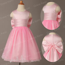 Cute 2014 FLOWER GIRL DRESS PAGEANT WEDDING BRIDESMAID DANCE PARTY 2~12 Years