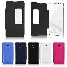 Smart View PU Leather Flip Battery Case Cover Skin for HUAWEI Ascend MATE 2 MT2