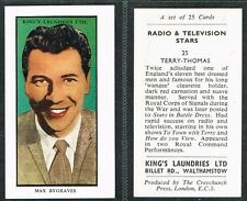Kings Laundries - Radio & TV Stars 1953 #1 to #25 Film/Movie Cards (£1.99 each)