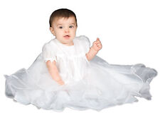 The Children's Hour White Lined Sheer Organza Gown With Hemmed Circle Skirts
