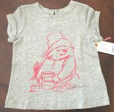 NWT Baby Gap Paddington Bear Cuffed Graphic T-shirt Gray SOLD OUT ONLINE