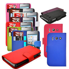 Flip Wallet Leather Case Cover Pouch For Huawei Ascend Y330 + Screen Protector