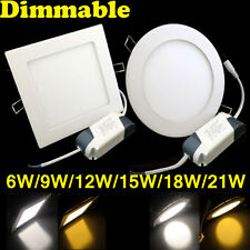 Dimmable 6W 9W 12W 15W 18W 21W LED Light Recessed Ceiling Panel Light Warm Day A