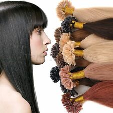 """Pre Bonded 18""""20""""22""""100s 50g Nail U Tip 100% Remy Real Human Hair Extensions"""