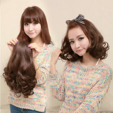new fashion half wig women curly wave short hair wigs 3/4 brown wig clips in