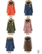 2014 Brand New women park coat  long thickening cotton-padded jacket with hat
