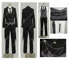 Hot Anime Black Butler Kuroshitsuji Sebastian Cosplay Costume Custom Made