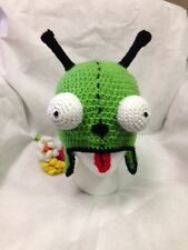 Hand Crochet Invader Zim GIR as a Dog Hat Beanie Made to Order NEW!
