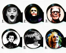 Select 1 pair Iconic Movie Characters ear gauges tunnels screw backs plugs