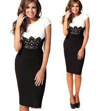 Elegant Women Lace Bodycon Pencil Dress Party Dress OL Sleeveless Dress