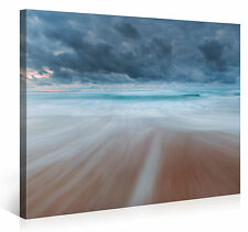 Stretched Canvas Print - BEACH IN MOTION Large Scenery Wall Art s4106