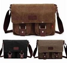 Men's Vintage Canvas Leather Shoulder Messenger Travel Bag SchoolBag Satchel