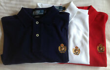 NWT $90 Polo Ralph Lauren Mesh SIZES M & L Heritage Crest Navy Blue White Shirt