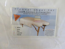 Flannel Massage Table Sheet Set 100% Cotton - Imported