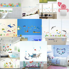 [FREE SHIPPING] UNDER THE SEA FISH KIDS NURSERY NON-TOXIC WALL STICKERS DECALS