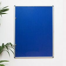 Brand New Lockable Blue Felt Notice Boards From £50.00 next day delivery