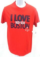 Boston Red Sox Baseball Ladies I Love Boston Short Sleeve Shirt Red