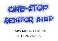 1/4W METAL FILM RESISTORS E24 ALL VALUES FROM 100K TO 9.1M PACKS OF 100