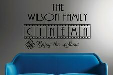 Family Cinema-Vinyl Wall Decal Personalized Wall Quotes Movie Room Decor