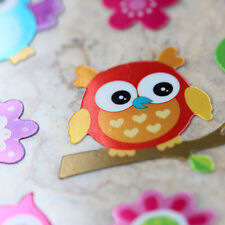 Phone Scrapbooking Shiny Foil Stickers Cute Colorful Owl Animals LCCLA09002