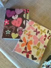 Liz & Pip Plain Paper Note Book - Choice of Cover Design: Butterflies or Hearts