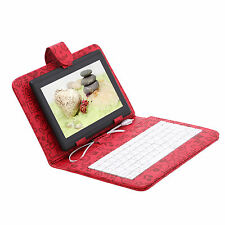 "iRulu Tablet PC 16GB 7"" Android 4.2 Dual Core Cameras Black w/ Cartoon Keyboard"