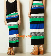 NEW Sz XS M Anthropologie Color Theory Maxi Skirt By Bailey 44 Made in USA $148