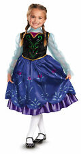 Disney Frozen Anna Child Costume Girls Princess Gown Movie Theme Party Halloween