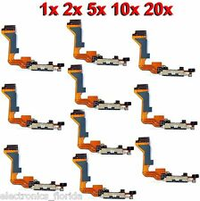 * LOT Charging Dock Port Connector Flex Cable for Iphone 4 Charger GSM Black b85