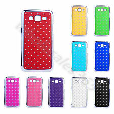 Luxury Design Diamante Stars Colorful Case Plastic Back Cover For Samsung Phones