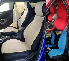 SELECT MAZDA MIX VELOUR AND SYNTHETIC TWO FRONT CUSTOM CAR SEAT COVERS