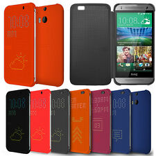 Genuine Dot S View Silicone+PC Case Cover Skin for HTC One M8 2014 Classic NEW