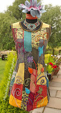 ♥ ~ STUNNING NEW PATCHWORK TUNIC / DRESS UK SIZE 12 14 16 HIPPIE FESTIVAL BOHO ♥
