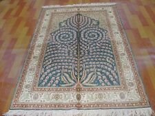 4' X 6'  Top Quality Handmade Silk  Persian Oriental  Carpet 324 KPSI Part 1