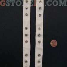 "Beige Snap Tape Buttons 3/4"" Inch, Choose Length *Closeout Prices* 013"