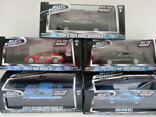 FAST & FURIOUS DODGE FORD MAZDA MUSTANG 1/43 SCALE DIECAST GREENLIGHT NEW