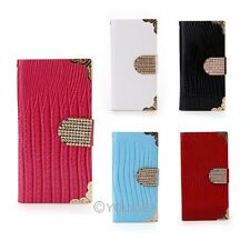 New Lizard Skin Flip Wallet PU Leather Cover Holder Case Stand For iphone5/5s