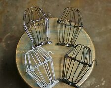 Wire Bulb Cage, Clamp On Lamp Guard, Vintage Industrial Trouble Lights, Pendants