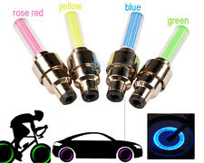 2Pcs LED Bicycle Car Motorcycle Wheel Tyre Light Tire Valve Dast Cap Flashing
